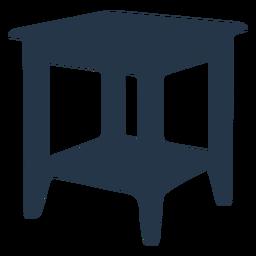 Perspectiva de silueta de mesa auxiliar
