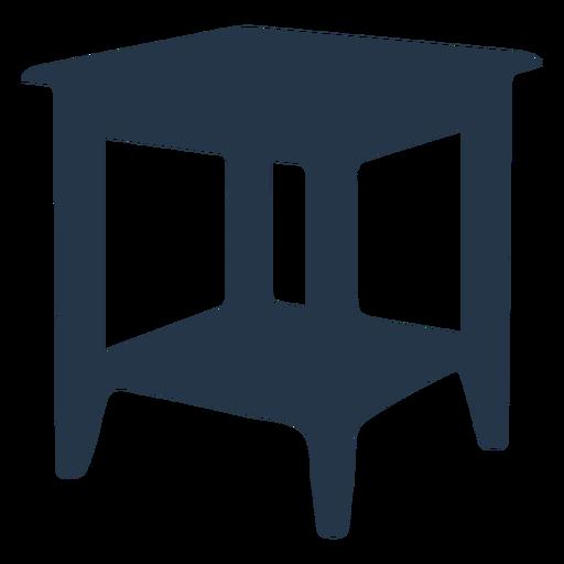 Perspectiva de silueta de mesa auxiliar Transparent PNG