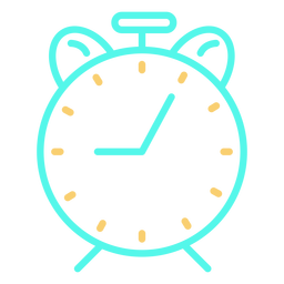 Icono de reloj despertador analógico clásico simple