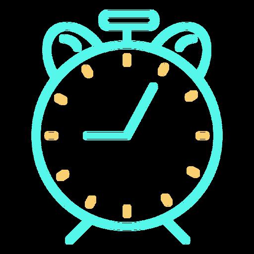Icono de despertador analógico clásico simple Transparent PNG
