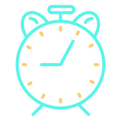 Simple classic analog alarm clock icon Transparent PNG