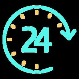 Icono de reloj simple 24 horas