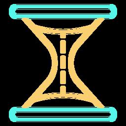 Color de icono de trazo de reloj de arena simple