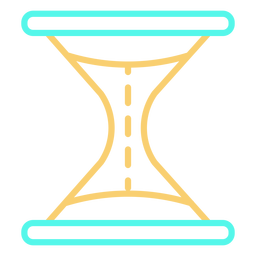 Simple hourglass stroke icon color
