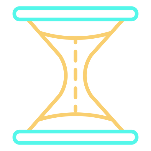 Color de icono de trazo de reloj de arena simple Transparent PNG