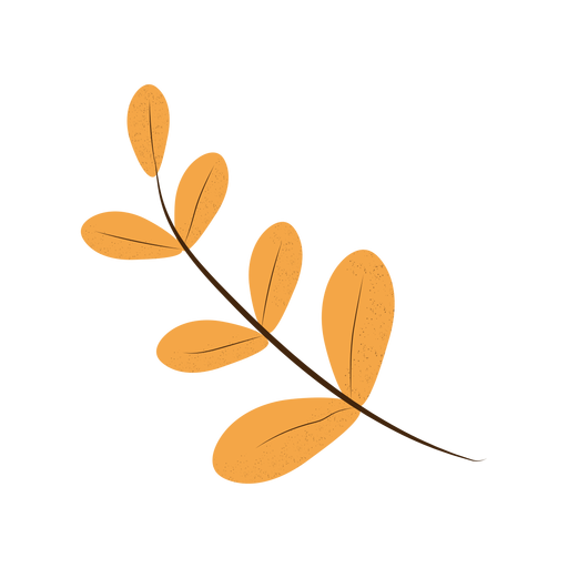 Simple leaves branch textured illustration