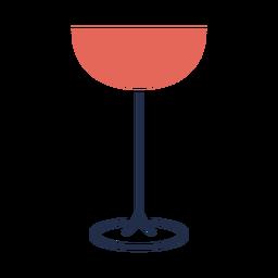Línea simple ilustración de copa de vino tinto
