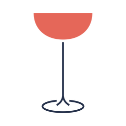 Simple line red wine glass illustration