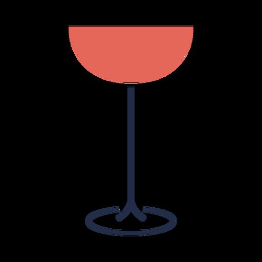 Linha simples ilustração de copo de vinho tinto Transparent PNG