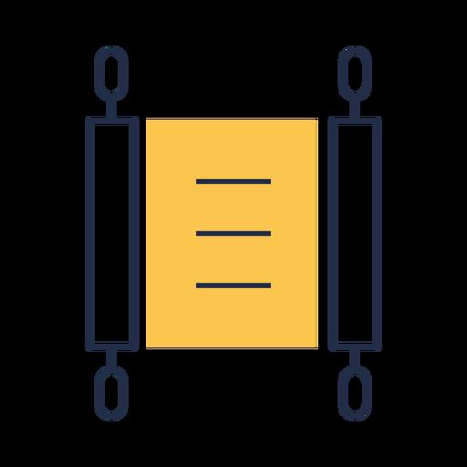 Icono de desplazamiento de escritura simple