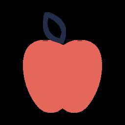 Manzana roja de forma simple plana