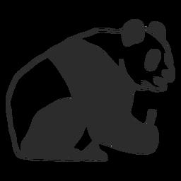 Sitting panda profile stroke
