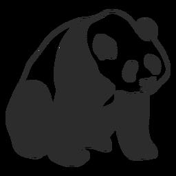 Golpe de panda sentado