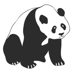 Sitting panda stroke