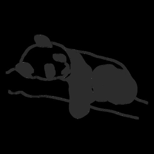 Sleeping panda stroke