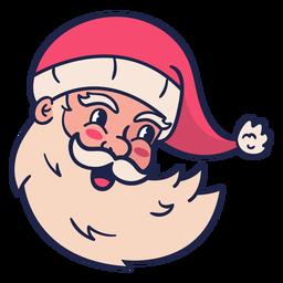 Cabeça de Papai Noel vintage sorridente