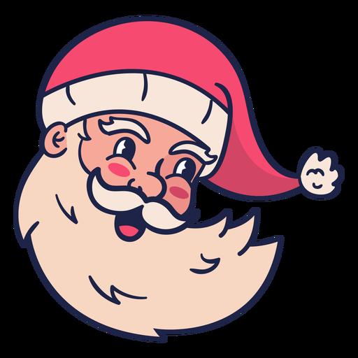 Smiling vintage santa head