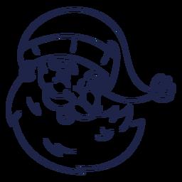 Curso de cabeça de santa vintage sorridente