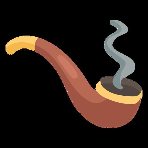 Smoking pipe icon flat Transparent PNG