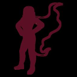 Standing posing supergirl silhouette