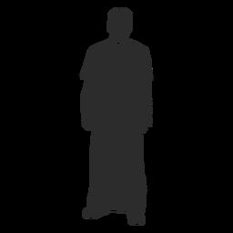 Estêncil do clero do padre em pé