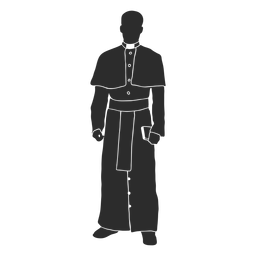 Standing priest clergy stencil