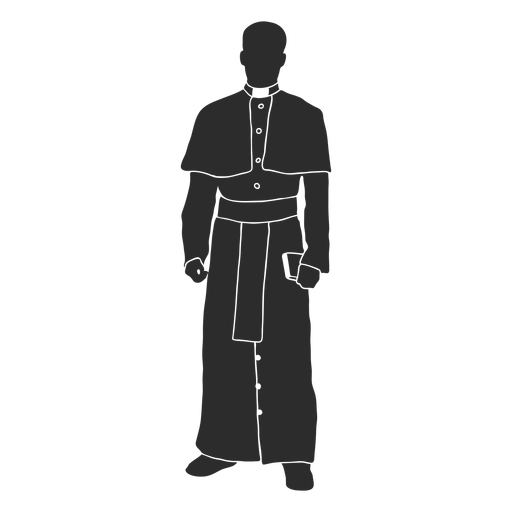 Standing priest clergy stencil