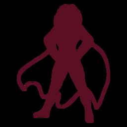 Silueta de supergirl de pie