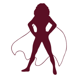 Standing supergirl silhouette