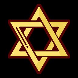 Stern der gelben Illustration von David