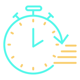 Icono de cronómetro flecha circular velocidad