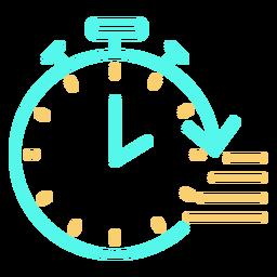 Velocidad de flecha circular de icono de cronómetro