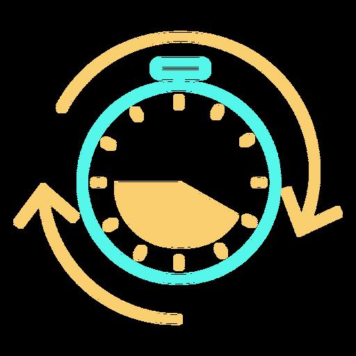 Stopwatch icon circular arrows stroke Transparent PNG