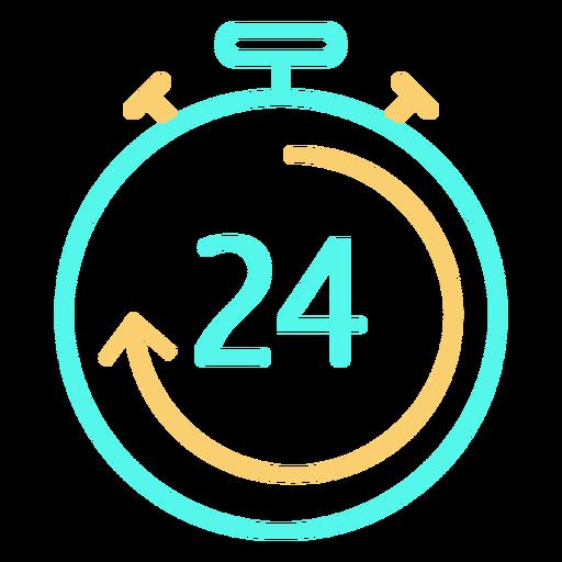 Stopwatch icon digital 24 circular arrow Transparent PNG