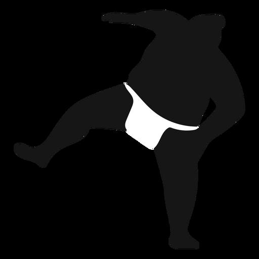 Stumping sumo wrestler silhouette