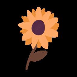 Ilustración con textura de girasol