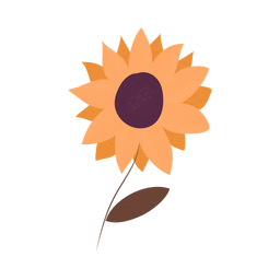 Sunflower textured illustration