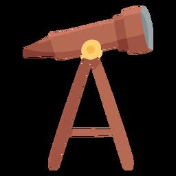 Telescope icon flat