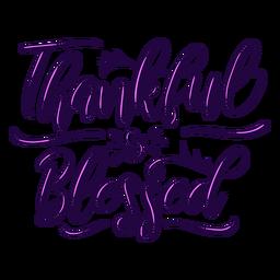 Agradecido letras bendecidas