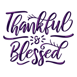 Letras bendecidas agradecidas