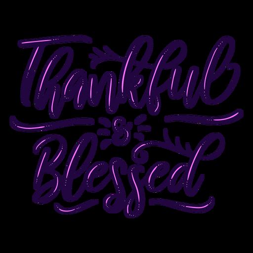 Letras bendecidas agradecidas Transparent PNG