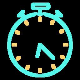 Icono de cronómetro analógico de tiempo
