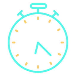 Time analog stopwatch icon