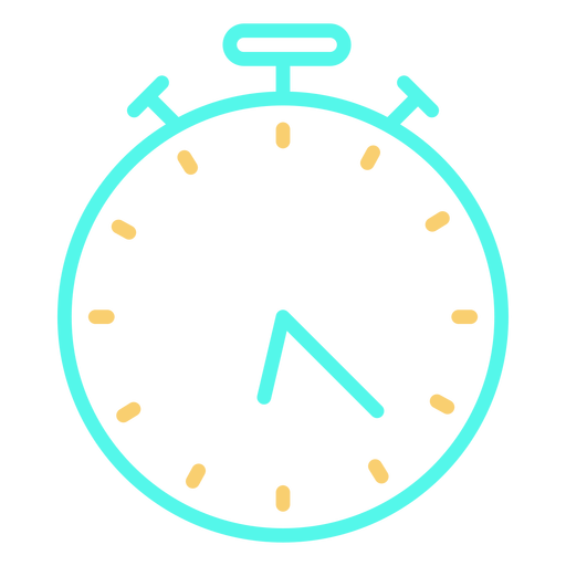Icono de cronómetro analógico de tiempo Transparent PNG
