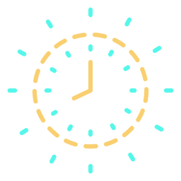 Time clock icon stroke