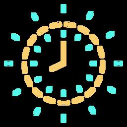 Trazo de icono de reloj de tiempo