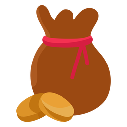 Ilustração de moeda de saco de tesouro