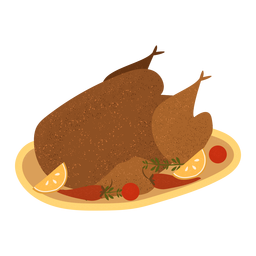 Turkey dinner plate textured
