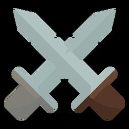 Icono de dos dagas cruzadas