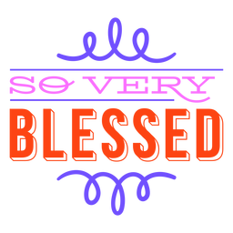 Very blessed thanksgiving lettering colorful